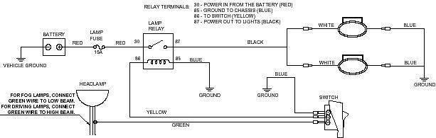 wiring up driving lights [archive] - dbw - dirtbikeworld, Wiring diagram